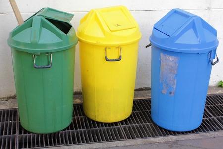 recycle bins 3 types Stock Photo - 12266094