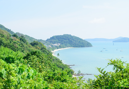 View point Andaman Sea in Phuket Stock Photo