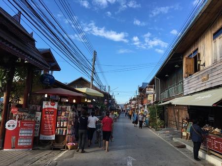 loei: Chiang khan city walking street,Loei Thailand