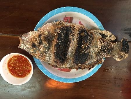 khan: grill fish at chiang khan,loei