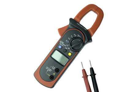 Digital multimeter isolated on white background with clipping path Фото со стока