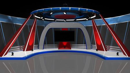 digital television: News TV Studio