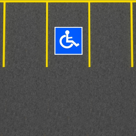 disabled parking sign: Handicapped parking