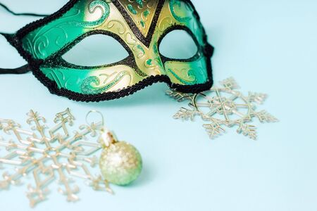 Carnival mask. Details for a New Years masquerade