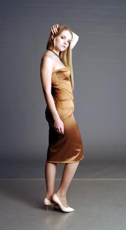 tight dress: blonde, yellow dress, girl in yellow, dress, girl in an evening dress, blonde in an evening dress, tight dress