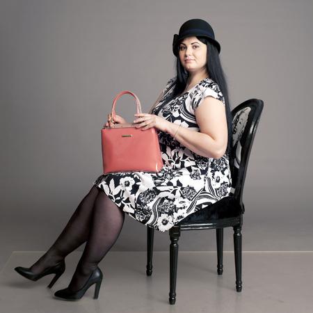 excess weight: summer dress, dress in a floret, girl in a hat, lady, lady in a hat, ladies hat, hat,