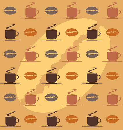 coffee beans background: coffee cup and coffee beans background