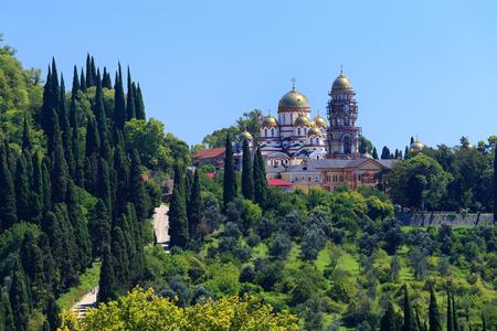 abkhazia: New and Athos Simoneau-Kananitsky monastery. Abkhazia