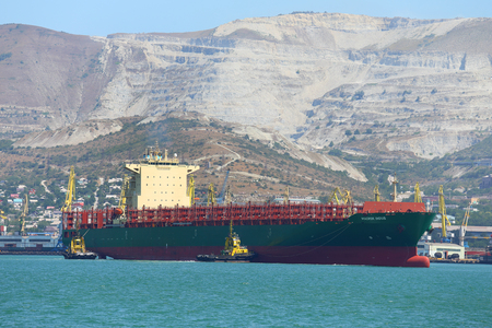 raid: Novorossiysk, Russia, August 10, 2015. The MAERSK INDUS container carrier comes into the port