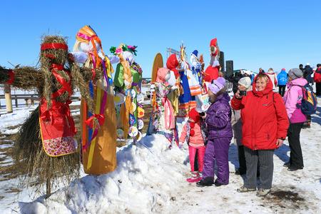 belokurikha: BELOKURIKHA, RUSSIA - MARCH 12, 2016: Maslenitsa is a Russian religious and folk holiday