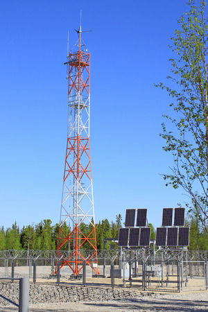Autonomous power supply for an industrial facility Stock Photo