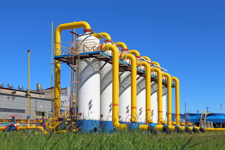The equipment at gas-compressor station Editorial