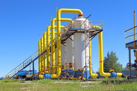 Conception du gazoduc contre le ciel Banque d'images - 61320177