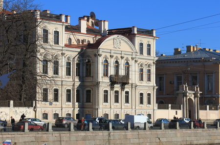 Saint Petersburg, RUSSIA - MAY 02, 2017: the Mansion of Countess Karlova, Memorial library of Prince Golitsyn