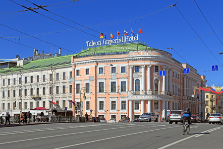 Saint Petersburg, RUSSIA - MAY 03, 2017: Historical-architectural monument of the House-General of police of St. Petersburg H. I. Chicherin. Taleon Imperial Hotel on Nevsky prospect, 15 Editöryel