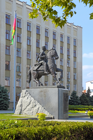 Krasnodar, RUSSIA - AUGUST 18, 2015: the Monument to Cossacks - founders of the Kuban land