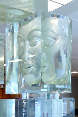 Novosibirsk, RUSSIA-JUNE 13, 2014: sculpture of the English sculptor Yunus Safardiar Conquest of Siberia in the interior of Tolmachevo airport