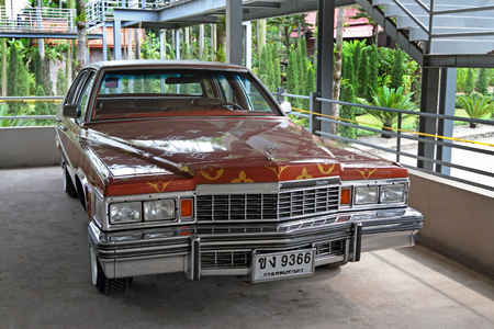 BANGKOK, THAILAND-MARCH 24, 2012: luxury car Cadillac DeVille with Thai license plates in the Parking lot