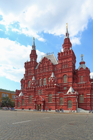 Moscow, RUSSIA — AUGUST 20, 2013: Building of the State historical Museum on red square Редакционное