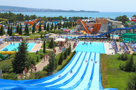 GELENDZHIK, RUSSIA-AUGUST 02, 2015: water Park in the foothills of the Caucasus in the Krasnodar region on The black sea coast