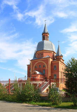 SURGUT, RUSSIA-JULY 07, 2011: Church of Christ the Savior of Evangelical Christians-Baptists. Khanty-Mansi Autonomous Okrug-Yugra