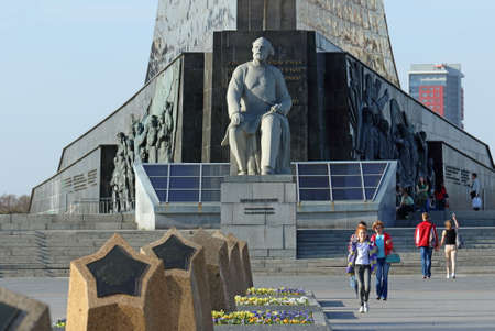 Moscow, RUSSIA - APRIL 29, 2017: Monument to Russian and Soviet scientist and inventor, founder of theoretical cosmonautics Konstantin Tsiolkovsky
