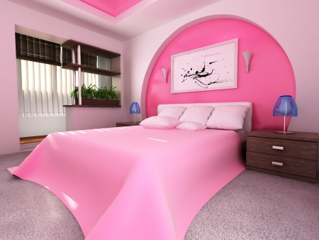 the modern luxury bedroom interior 3d rendering Stock Photo - 21802893