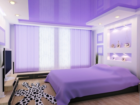 3d image of a modern interior design