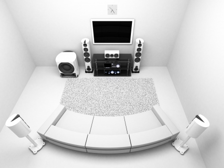 The Room with hi-end audio system TV Stock Photo - 21802957