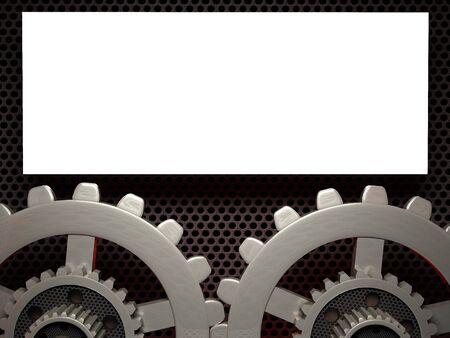 Abstract gear background - vector illustration 3D