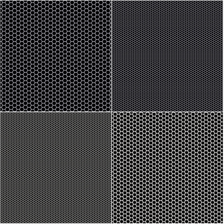 grille: Metal mesh texture background with reflections Stock Photo