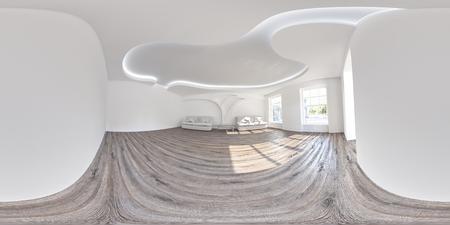 spherical: Spherical, 360 degrees panorama interior. Stock Photo