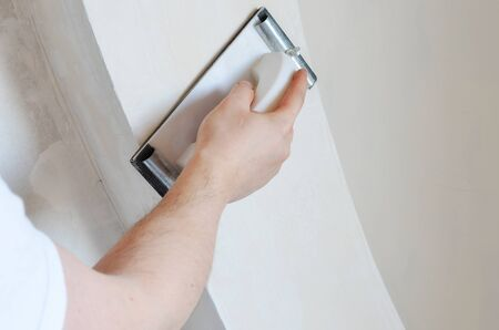 plasterboard: instruments over plasterboard surface