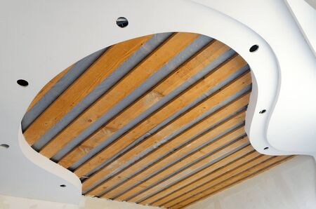 repairing ceiling works in the room