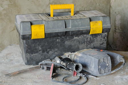 hammer drill perforator equipment Standard-Bild