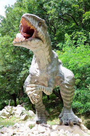 animal figurines: Dinosaur  Stock Photo