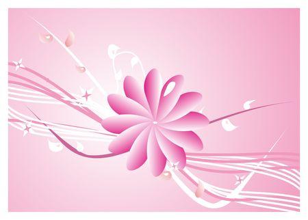 Pink flower background - vector illustration Stock Illustration - 3891374