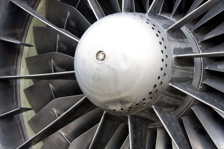 Large jet engine turbine blades Stock Photo - 4829363