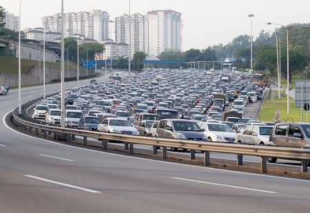 slowdown: traffic jammed in malaysia