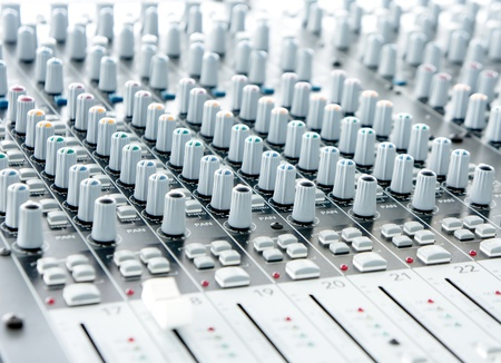 audio mixer: sound mixer Stock Photo