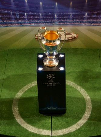 KUALA LUMPUR - FEB 27: UEFA Champions League Trophy Tour presented by Heineken on February 27, 2011. The first official event of the 2011 has taken place in Malaysia at the start of an eight-week trip.                      Stock Photo - 11249718