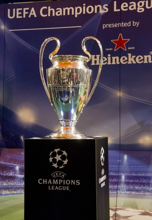 KUALA LUMPUR - FEB 27: UEFA Champions League Trophy Tour presented by Heineken on February 27, 2011. The first official event of the 2011 has taken place in Malaysia at the start of an eight-week trip.