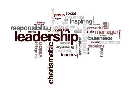 inspirerend: Achtergrond concept word cloud illustratie van leiderschap