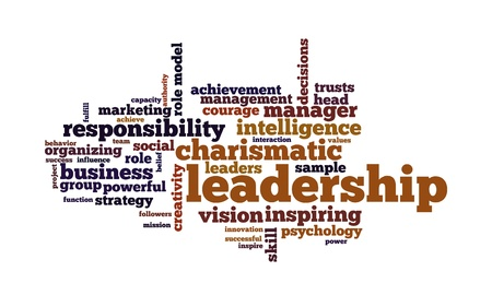 successful leadership: Background concept word cloud illustration of leadership
