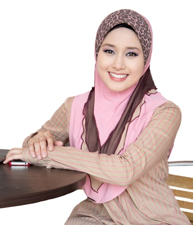 portrait of young muslimah photo