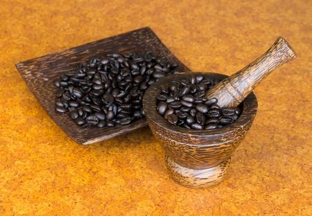 coffee blender: coffee beans in traditional blender
