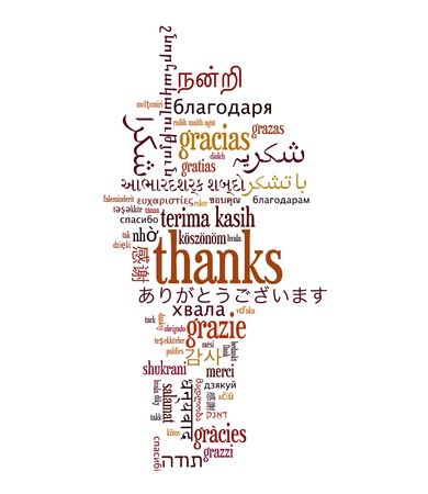 spanish style: Background concept wordcloud illustration of welcome different languages