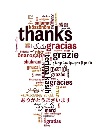 thanks: Background concept wordcloud illustration of welcome different languages