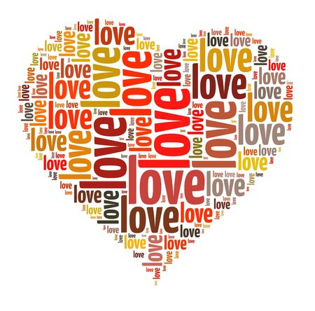 Background concept wordcloud illustration of love illustration