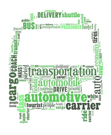 green transport info-text graphics and arrangement concept on white background